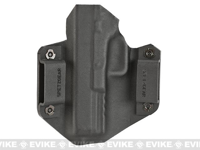 z Spetz Gear Kydex Tactical Holster for Echo1 Timberwolf Airsoft GBB Pistol - Black / Right Handed