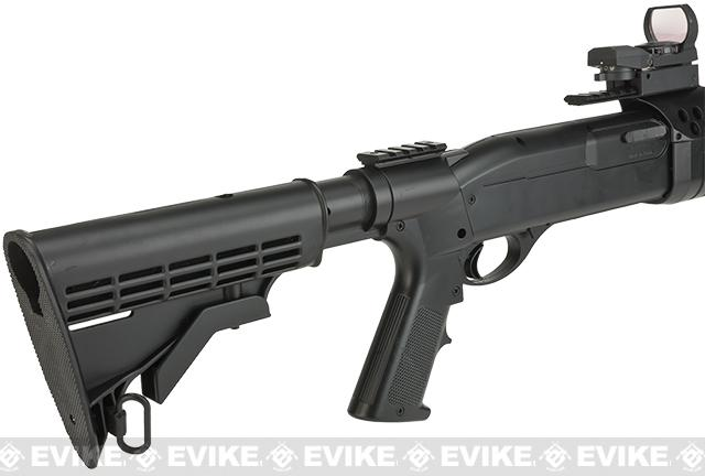 JG / AGM Full Size SPAS Realistic Shell Loading Airsoft Shotgun (5-POS LE Stock)