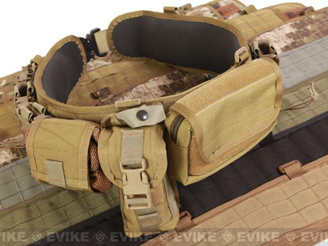 HSGI Slotted Sure-Grip Padded Duty Belt - Coyote Brown (Size: Large 41.5)