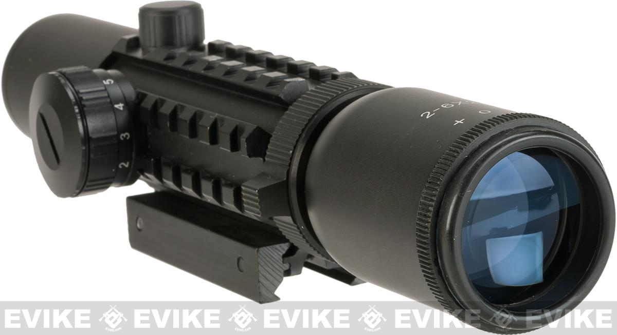 Matrix 2-6X28 Tri-Rail Red/Green Illuminated Scope
