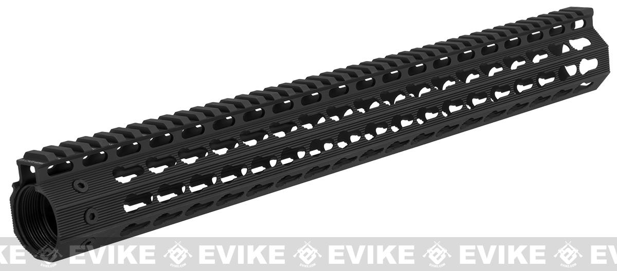 Strike Industries Gen 2. 16 Mega Fins Free Float Drop-In Keymod Handguard for M4 / M16 / AR15 Series Rifles - Black