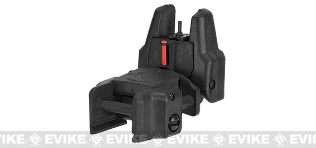 Dual-Profile Rhino Fiber Optic Flip-up Rifle / SMG Sight by Evike - Front Sight / Black