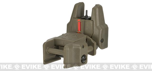 Dual-Profile Rhino Fiber Optic Flip-up Rifle / SMG Sight by Evike - Front Sight / Dark Earth