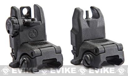 z Magpul PTS Licensed MBUS-II Gen 2 Back-Up Flip-up Front & Rear Sight Set - Black