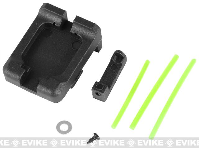 Matrix Fiber Optics Sight Set for TM KSC KWA G Series Airsoft GBB - (Green)