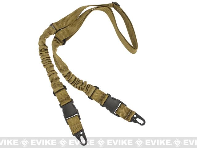 Matrix 2-Point Bungee Sling w/ QD Buckles - Tan