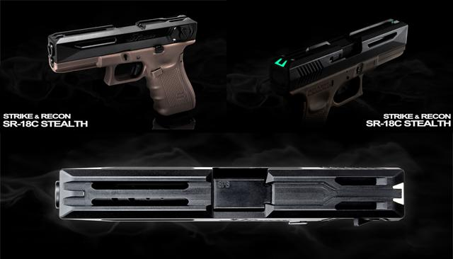 SRU SR-18 Stealth Slide for WE18C Airsoft GBB Pistols