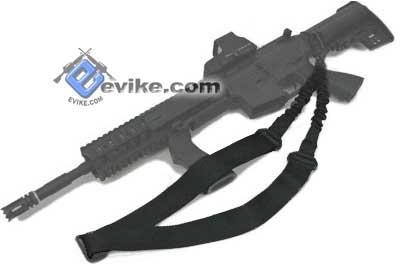 Matrix Military Style Single Point Bungee Rifle Sling - Black