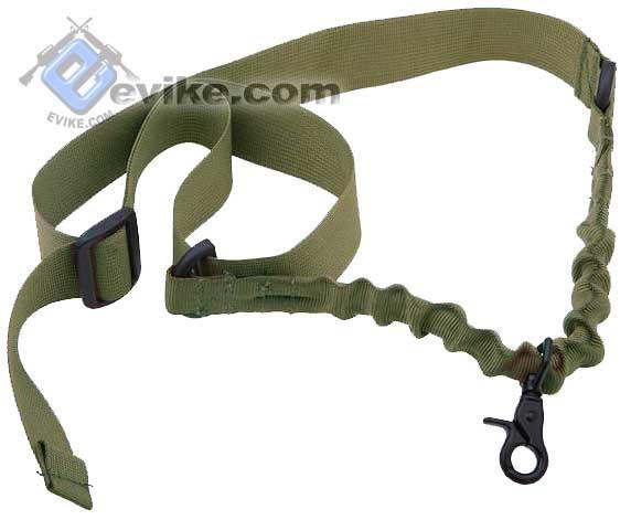 Matrix Military Style Single Point Bungee Rifle Sling - OD Green