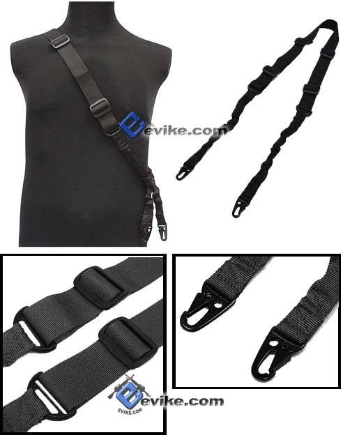 Matrix Military Style Tactical 2-Point Bungee Sling - Black