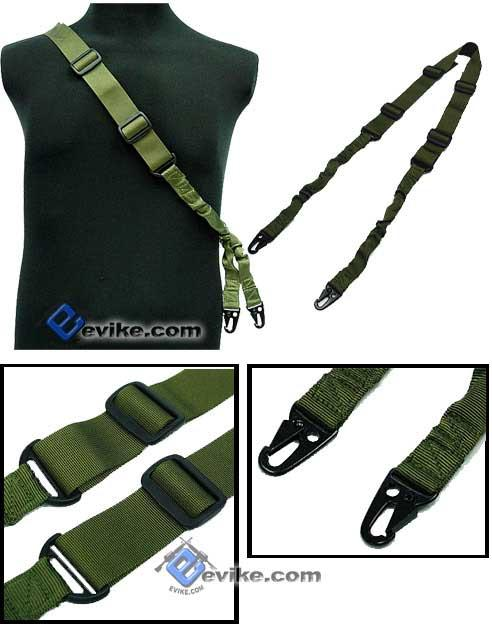 Matrix Military Style Tactical 2-Point Bungee Sling - OD Green