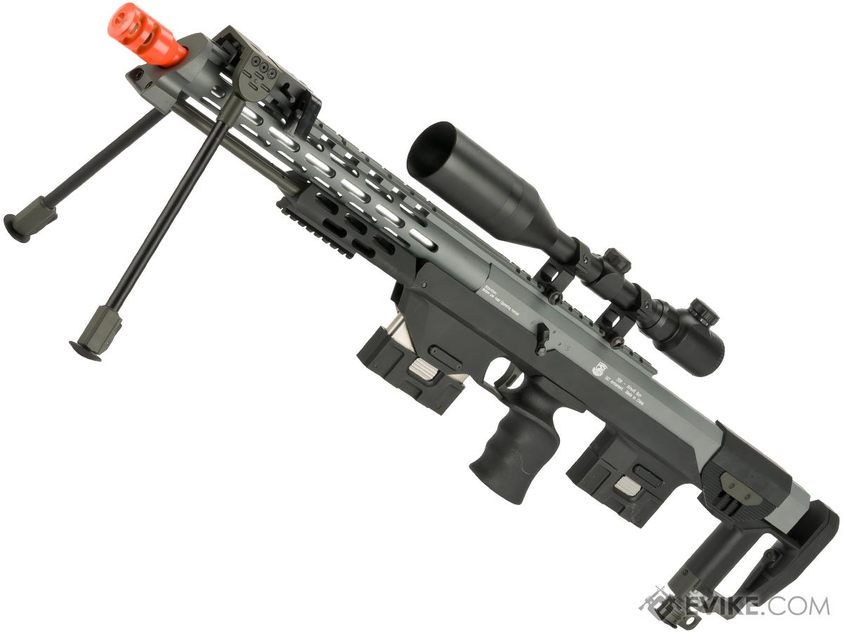6mmProShop Gas Powered Full Metal DSR-1 Advanced Bullpup Sniper Rifle (Color: Grey)
