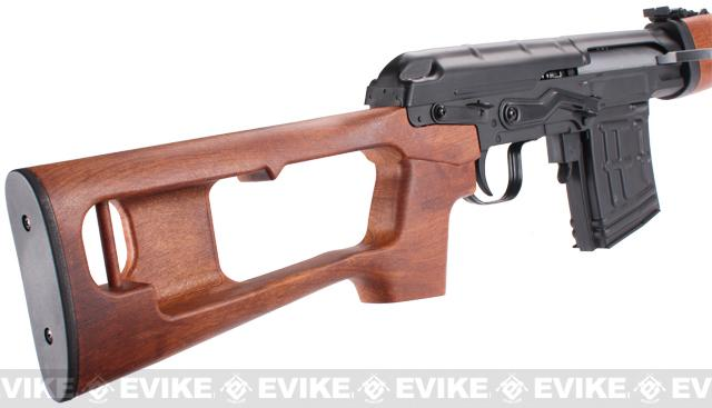 Pre-Order ETA November 2016 SVD Dragunov Bolt Action Sniper Rifle w/ Imitation Wood Furniture by A&K / JG