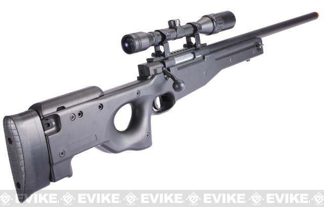 DE M57A APS2 Type96 Shadow Op Airsoft Bolt Action Sniper Rifle - Black (Package: Add 3-9x40 Scope + Bipod)