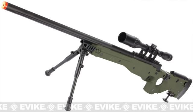 Matrix AW-338 Shadow Ops Airsoft Sniper Rifle w/ Folding Stock & Bipod - OD Green