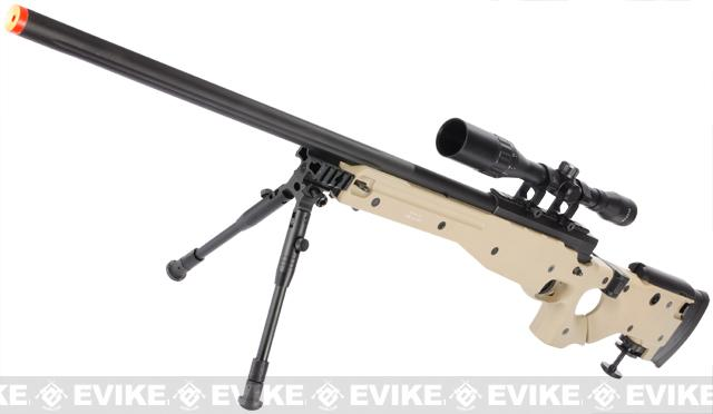 Matrix AW-338 Shadow Ops Airsoft Sniper Rifle w/ Folding Stock & Bipod - Desert