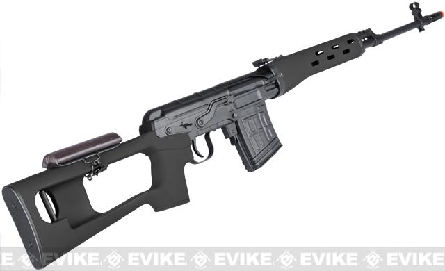 A&K SVD Dragunov Bolt Action Sniper Rifle (Stealth Black / ~500 FPS)