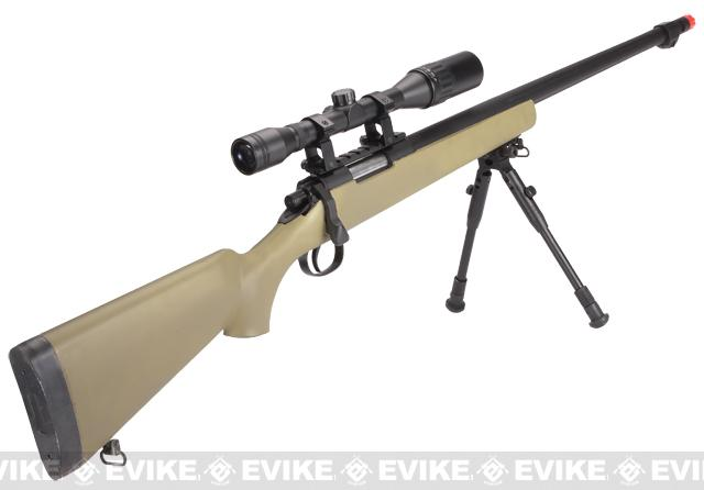 Matrix VSR10 MB07 Bolt Action Sniper Rifle w/ Bipod, Fluted Barrel & Flash hider (Desert)