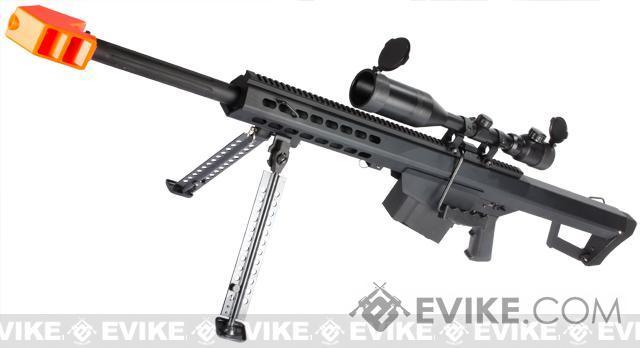 Snow Wolf Custom Long Range Airsoft AEG Sniper Rifle (V.2 Gearbox) (Package: Black / Short Barrel / Rifle and Bipod Only)