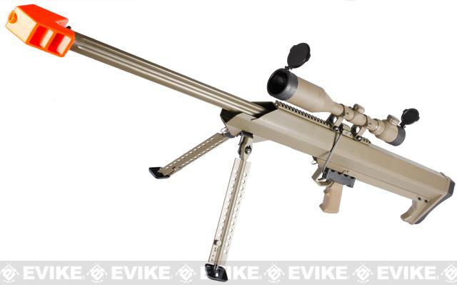 Snow Wolf M82 Bolt Action Airsoft Long Range Sniper Rifle - Desert