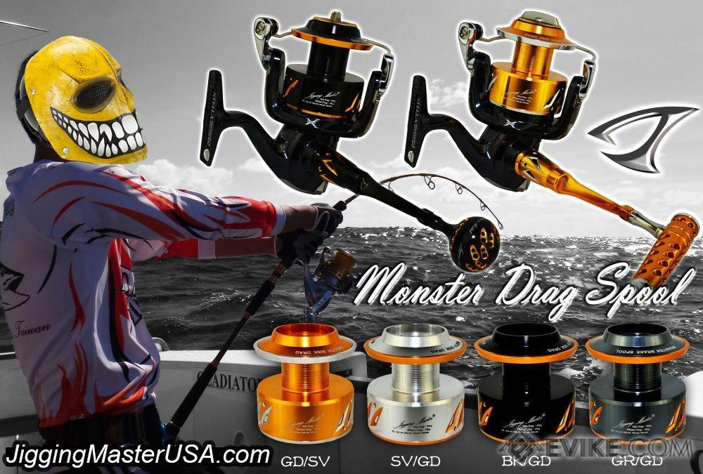 Jigging Master NS-25 25000 Monster Spool for Shimano Stella (Color: SV/GD)