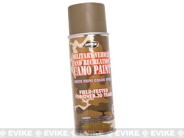 Aervoe Military Camo Spray Paint - OD Green / 12oz - (Ground Shipping Only, no Express/Air)