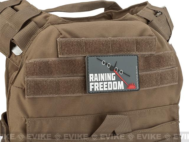 MoeGuns Raining Freedom 3D PVC Morale Patch - Full Color