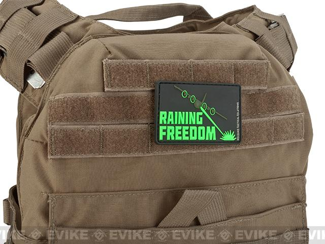 MoeGuns Raining Freedom 3D PVC Morale Patch - Blackout