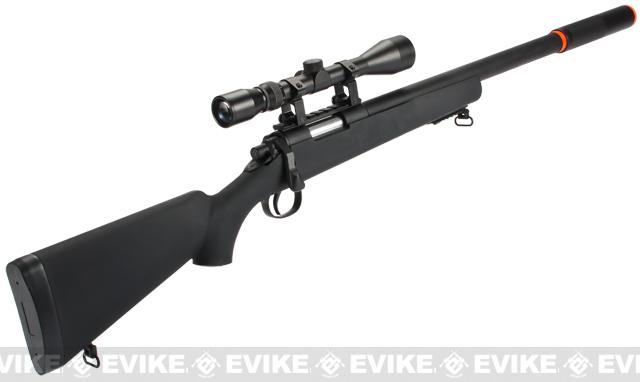 CSI VSR-10 G-SPEC Bolt Action Airsoft Sniper Rifle with Mock Silencer - (Package: Add 3-9x40 Scope + Bipod)