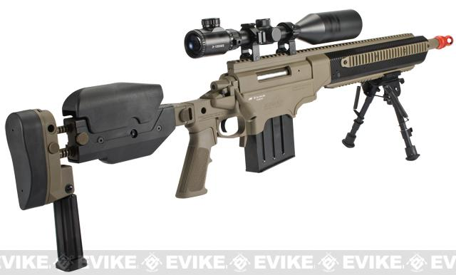 ASG Ashbury ASW338LM Bolt Action Airsoft Sniper Rifle by VFC - Dark Earth