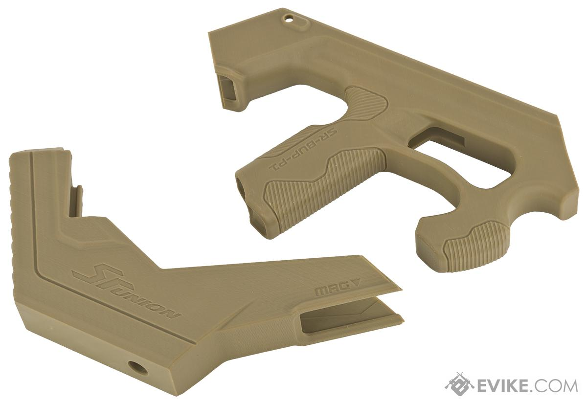 SRU SCAR-L 3D Printer Bullpup Carbine Kit for WE-Tech Mk16 / SCAR-L Gas Blowback Airsoft Rifles (Color: Tan)