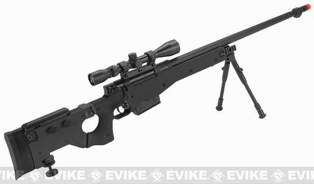 WELL G96 Gas Powered Full Size Airsoft Sniper Rifle with Scope - Black (Package: Rifle + Scope)