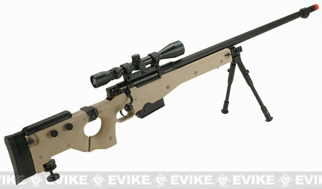 WELL G96 Gas Powered Full Size Airsoft Sniper Rifle with Scope - Desert (Package: Rifle + Scope)