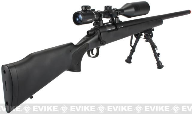 JG M700 Bolt Action Airsoft Sniper Rifle - Black
