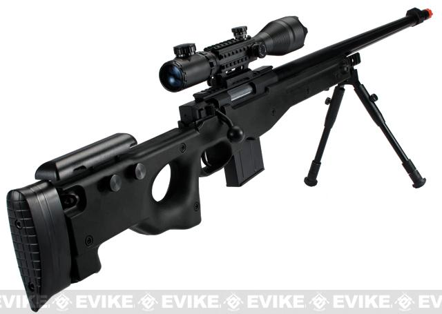 Matrix Marui Clone L96 AWS Bolt Action Airsoft Sniper Rifle w/ Scope - Black