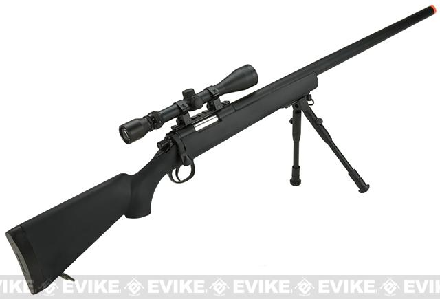 Pre-Order ETA November 2016 Matrix VSR-10 MB03 Bolt Action Airsoft Sniper Rifle by WELL - Black (Package: Rifle)