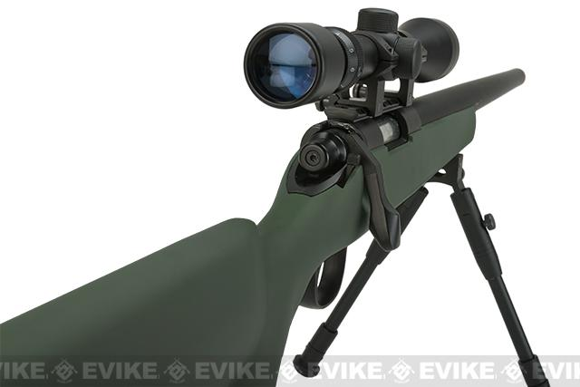 Matrix VSR-10 MB03 Bolt Action Airsoft Sniper Rifle by WELL - OD Green (Package: Add 3-9x40 Scope + Bipod)