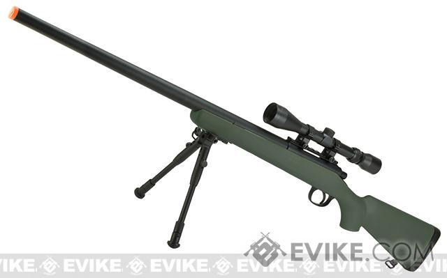 Pre-Order ETA May 2017 Matrix VSR-10 MB03 Bolt Action Airsoft Sniper Rifle by WELL - OD Green (Package: Rifle)