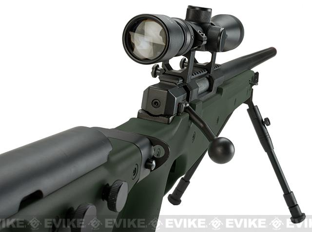 Matrix AW-338 MB08B Bolt Action Airsoft Sniper Rifle w/ Folding Stock by WELL- OD Green (Package: Add 3-9x40 Scope)
