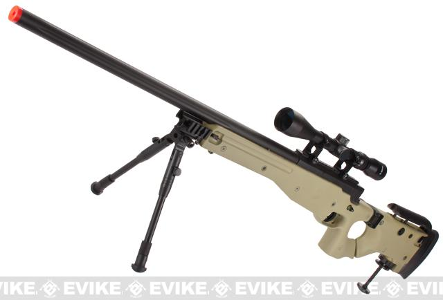 Pre-Order ETA February 2016 Matrix AW-338 MB08D Bolt Action Airsoft Sniper Rifle w/ Bi-Pod & Scope by WELL - Desert