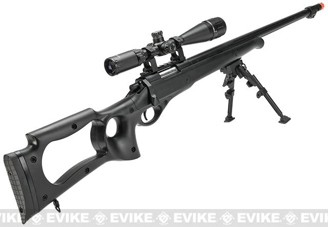 Matrix Custom VSR10 MB10 Airsoft Bolt Action Sniper Rifle by WELL - Black