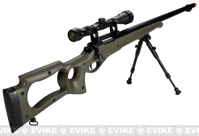 Matrix Custom VSR10 MB10 Airsoft Bolt Action Sniper Rifle w/ Scope & Bipod by WELL - OD Green
