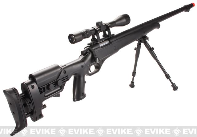 Matrix Custom VSR10 MB12 Airsoft Bolt Action Sniper Rifle w/ Scope & Bipod by WELL (Package: With Bipod & Scope)
