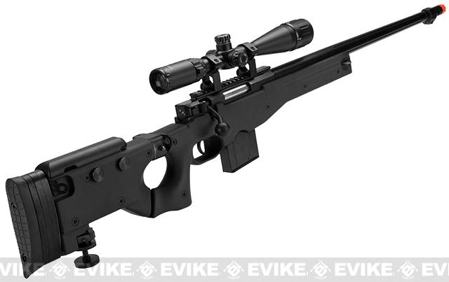 Pre-Order ETA November 2016 WELL L96 Bolt Action Airsoft Sniper Rifle w/ Folding Stock - Black
