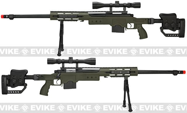 Pre-Order ETA October 2016 WELL MB4411D Bolt Action Airsoft Sniper Rifle - OD Green (Package: Rifle)