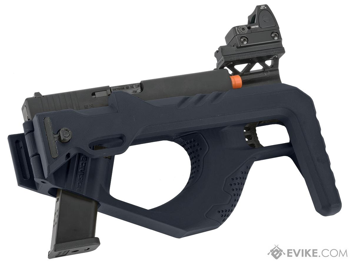 SRU 3D Printed PDW Carbine with WE-Tech Gas Blowback Pistol Package (Color: Blue)