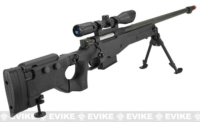 AW338 Airsoft Bolt Action Heavy Weight Sniper Rifle by UFC (Configuration: Black / 500 FPS Upgrade)