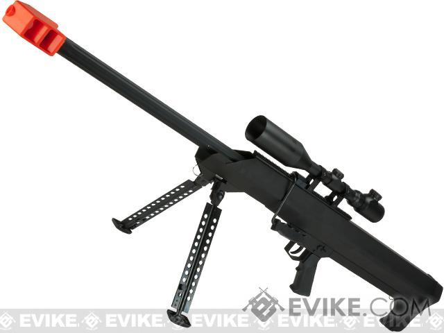 Snow Wolf M82 M99 LRSA Bolt Action Airsoft Long Range Sniper Rifle - Black (Package: Add 3-9x50 Scope)