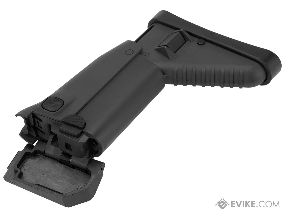 Complete Side Folding Retractable Stock for SCAR Series Airsoft AEG (Color: Black)