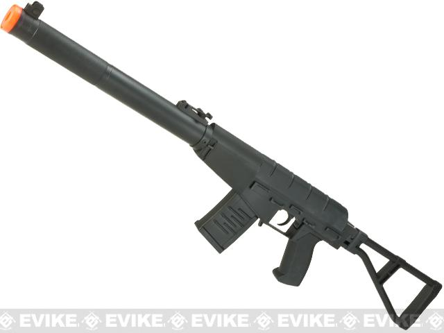 S&T Full Metal VSS AS-VAL Airsoft AEG Rifle with Folding Stock - Black